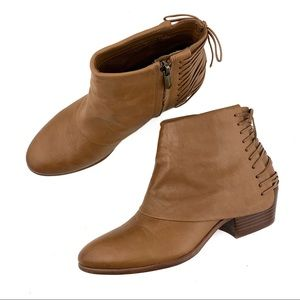 Same Edelman Princeton Leather Zip Up Ankle Boots
